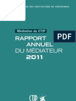 Rapport annuel 2011 du médiateur du CTIP