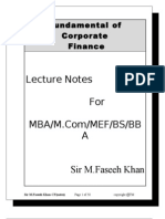 Corporate Finance Completed Notes