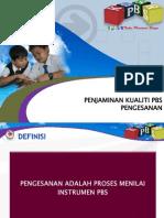 PBS PENJAMINAN KUALITI PENGESANAN 2012