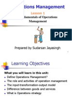 Operation Management