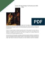 EL Cuadro Del Hijo Prodigo de Rembrandt