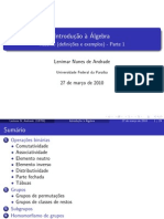 Introd Algebra - Resumo 1 - Lenimar N Andrade