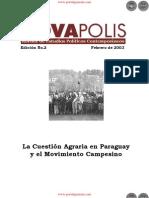 La Cuestión Agraria en Paraguay y el Movimiento Campesino - Edición No.2 Febrero de 2003 - NovaPolis - REVISTA DE ESTUDIOS POLÍTICOS CONTEMPORÁNEOS - Paraguay - PortalGuarani