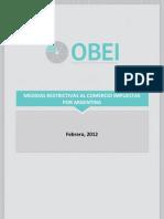 Medidas Restrictivas Al Comercio Impuestas Por Argentina