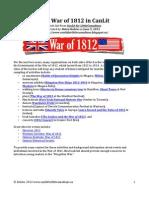 War of 1812 CanLit Book List