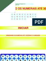 numerais até 30+ORDENAR