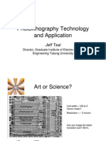 Photolithography Technology and Application