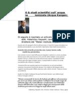 Acqua Alcalina-Studi Scientifici