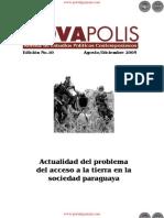 Actualidad del problema del acceso a la tierra en la sociedad paraguaya - Edición No.10 Agosto Diciembre 2005 - NovaPolis - REVISTA DE ESTUDIOS POLÍTICOS CONTEMPORÁNEOS - Paraguay - PortalGuarani