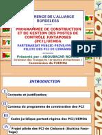 PROGRAMMEE DE CONSTRUCTION ET DE GESTION DES POSTES DE CONTRÔLE JUXTAPOSES (PCJ)/UEMOA