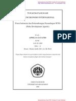 Posisi Indonesia Dan Perkembangan Perundingan Wto8