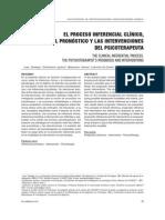 2009 - El proceso inferencial clínico el pronóstico y las intervenciones del psicoterapeuta (PDF Anuario) - Juan Etchebarne Waizmann Leibovich de Duarte y Roussos