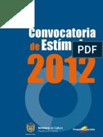 CONVOCATORIA 2012 Bogotá