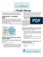 A Guide To Tooth Decay