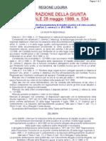 Dgr n534-1999 Liguria - Acustica