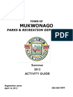 Town of Mukwonago Activity Guide - Summer 2012