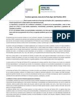 Comunicado de Prensa Agro Del Pacifico 2012
