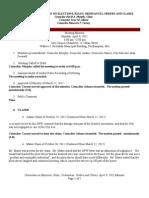 April 9 2012 Ordinance Minutes