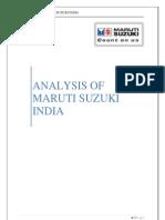 Analysis of Maruti Suzuki
