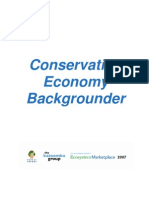 Conservation Economy Background Er