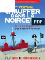 Programme 20ème Festival Chauffer Dans La Noirceur