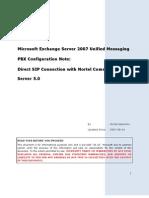 Nortel-cs1k v5-Direct Sip Connection