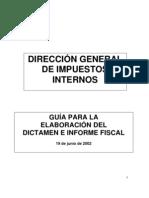 Guia Dictamen e Informe Fiscal 19-06-2002