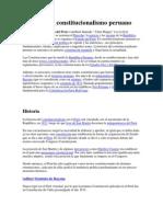 Historia Del Constitucionalismo Peruano