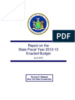 Comptroller on 2012-2013 Budget