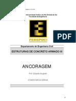 Notas C07 Ancoragem Armaduras NBR 6118 2003