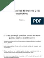 Las Clasificaciones Del Maestro y Sus Expectativas