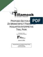 US101-Or6 Proposed de Minimis Impact Finding