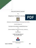 Employees Training Development Reseach Report of t&d