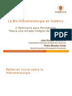 Bio-Hidrometalurgia en Codelco
