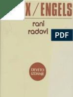 Karl Marks i Fridrih Engels - Rani Radovi