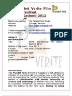 Verite Film Fest Proposal