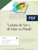 CARTAZ Bibliotecas Comunitárias