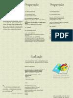 Folder Evento Bibliotecas Comunitárias