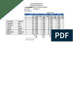 Trabajo de Excel