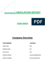 Business Simulation Report