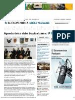 05-06-2012 Agenda única debe tropicalizarse_ IP - eleconomista.com.mx