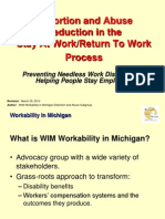 Workability in Michigan - Distortion and Abuse Reduction