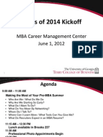 MBA Career Management Center Guide for Incoming Students
