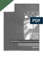 Compendio de Las Convenciones Colectivas- Copilacion de Normas Vigentes de Las Convenciones Colectivas 1990-2003