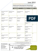 June 2012 Workshop Calendar