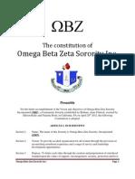 The Constitution of Omega Beta Zeta PDF