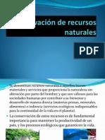 Conservación de recursos naturales