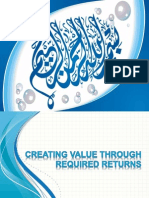 creating value through required return