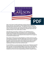 David Carlson for U.S. Senate