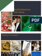 2008 Sam Carrington Wedding Photography Catalog